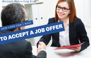 An Offer for a job is a big deal. Don't pass up your opportunity by taking too long to accept.