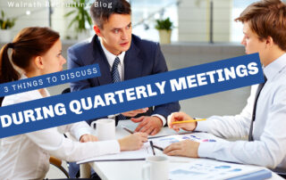 Quarterly meetings are the perfect time to discuss concerns or questions with your boss!