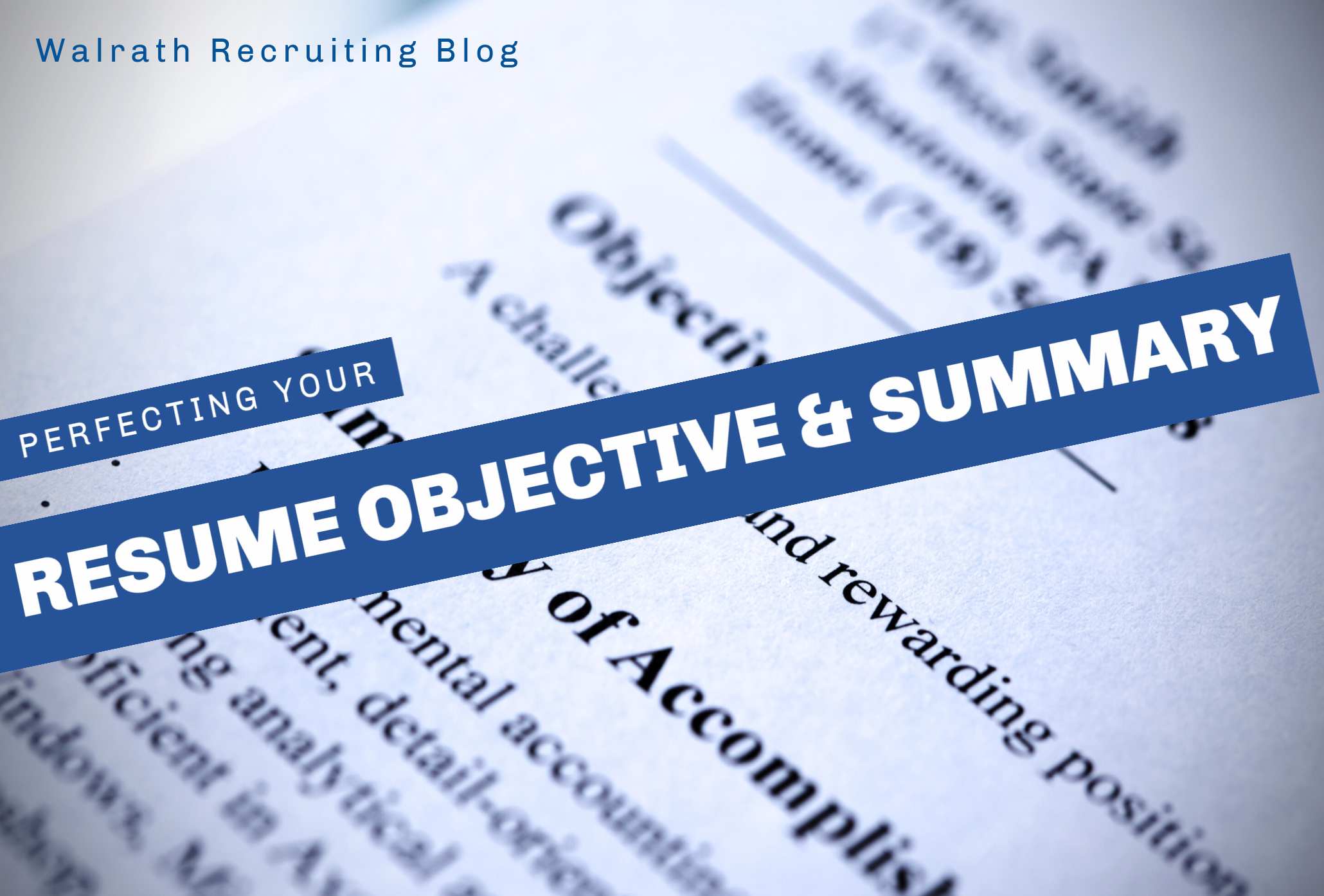 Resume Objectives are the first thing a reader see. Make yours stand out!